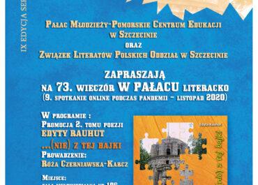 Jesień 2020 pełna promocji… W PAŁACU literacko!
