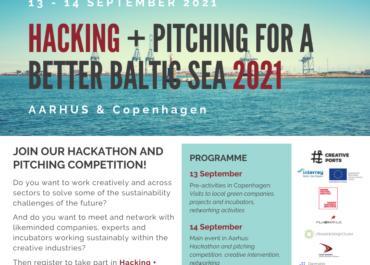 "Kolejna edycja ""HACKING + PITCHING FOR A BETTER BALTIC SEA 2021""!"