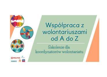Regionalne Centrum Wolontariatu w Szczecinie zaprasza na szkolenie Współpraca z wolontariuszami od A do Z